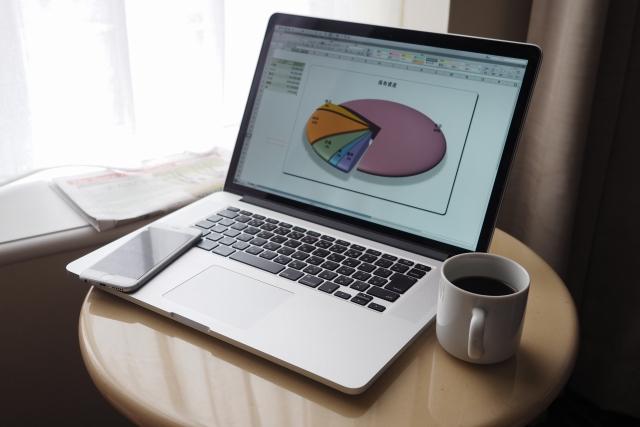 グラフとパソコン