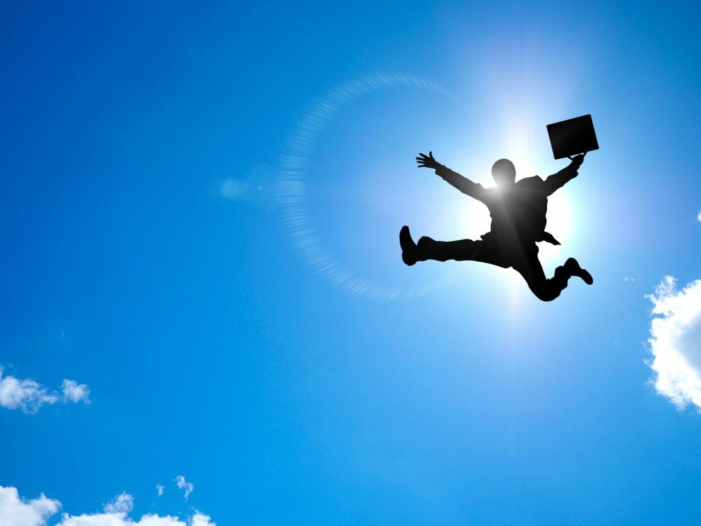飛んでる人